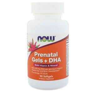 Now Foods Prenatal Gels + DHA (90 softgels) - Now Foods - Publicité