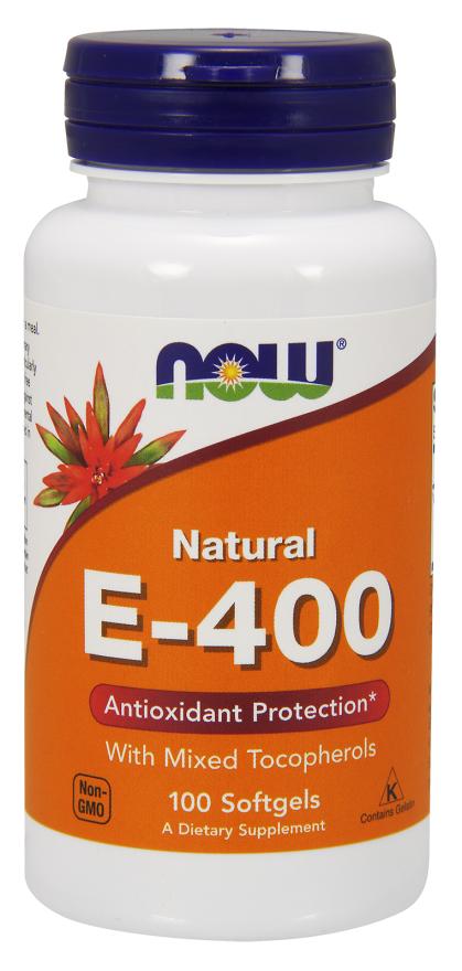 Now Foods Vitamin E-400 IU (100 Softgels) - Now Foods