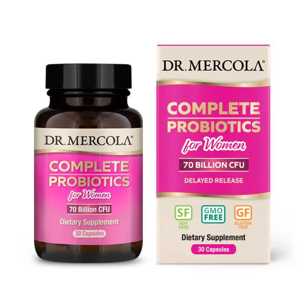 Dr. Mercola Complete Probiotics for Women (70 Billion CFU) (30 Capsules) - Dr. Mercola