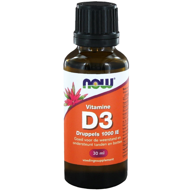 Now Foods La vitamine D3 liquide 1000 IE (30ml) - Now Foods