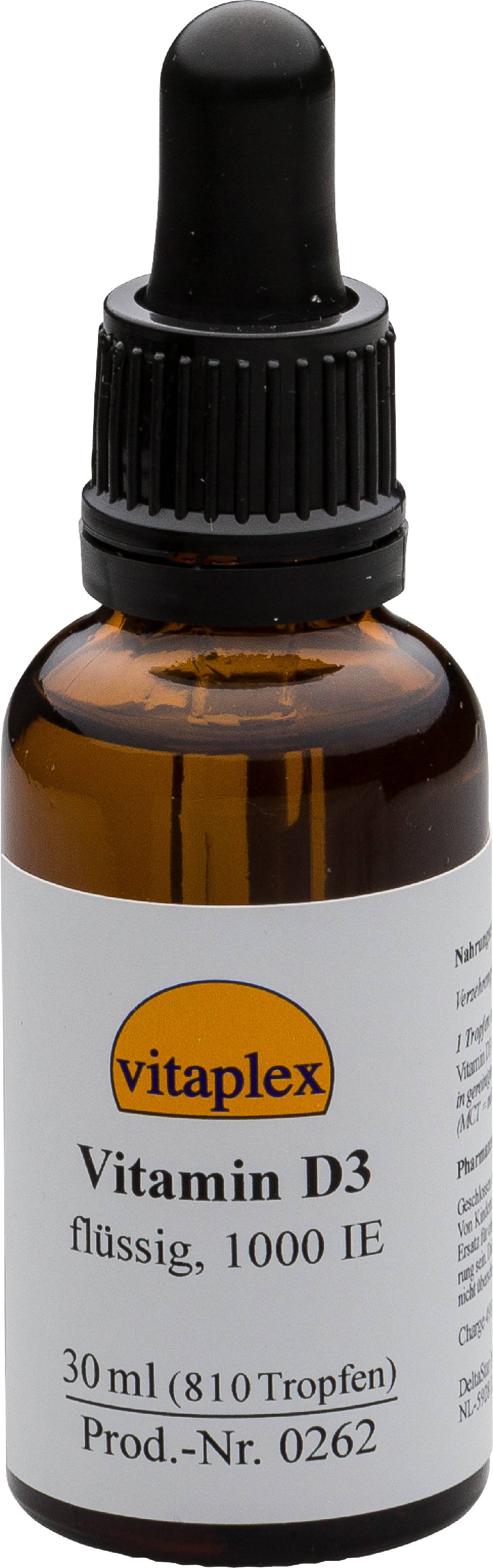 Vitaplex Liquide de vitamine D3, 1000 IE (30 ml, ca. gouttes 810) - Vitaplex