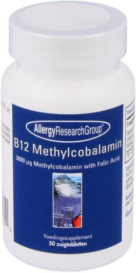 Allergy Research Group B12 Methylcobalamin with Folic Acid (50 Lozenges) - Allergy Research