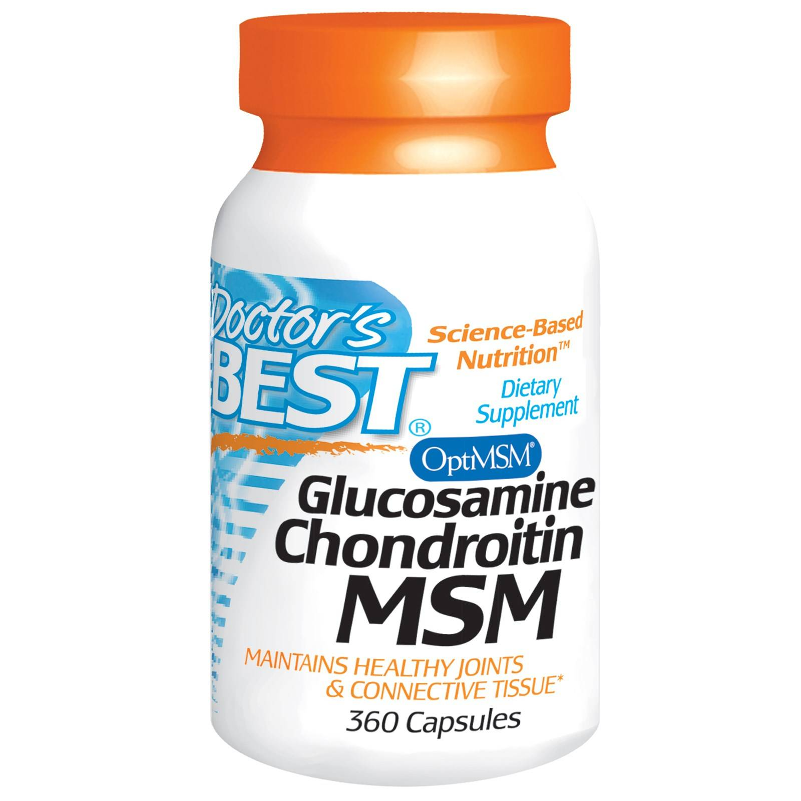 Doctors Best Doctor's Best, Glucosamine Chondroitin MSM, 360 Capsules
