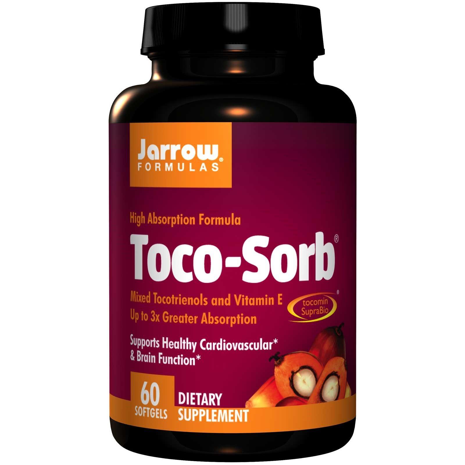 Jarrow Formulas Toco-Sorb mixé tocotriénols et vitamine E (60 gélules) - Jarrow Formulas