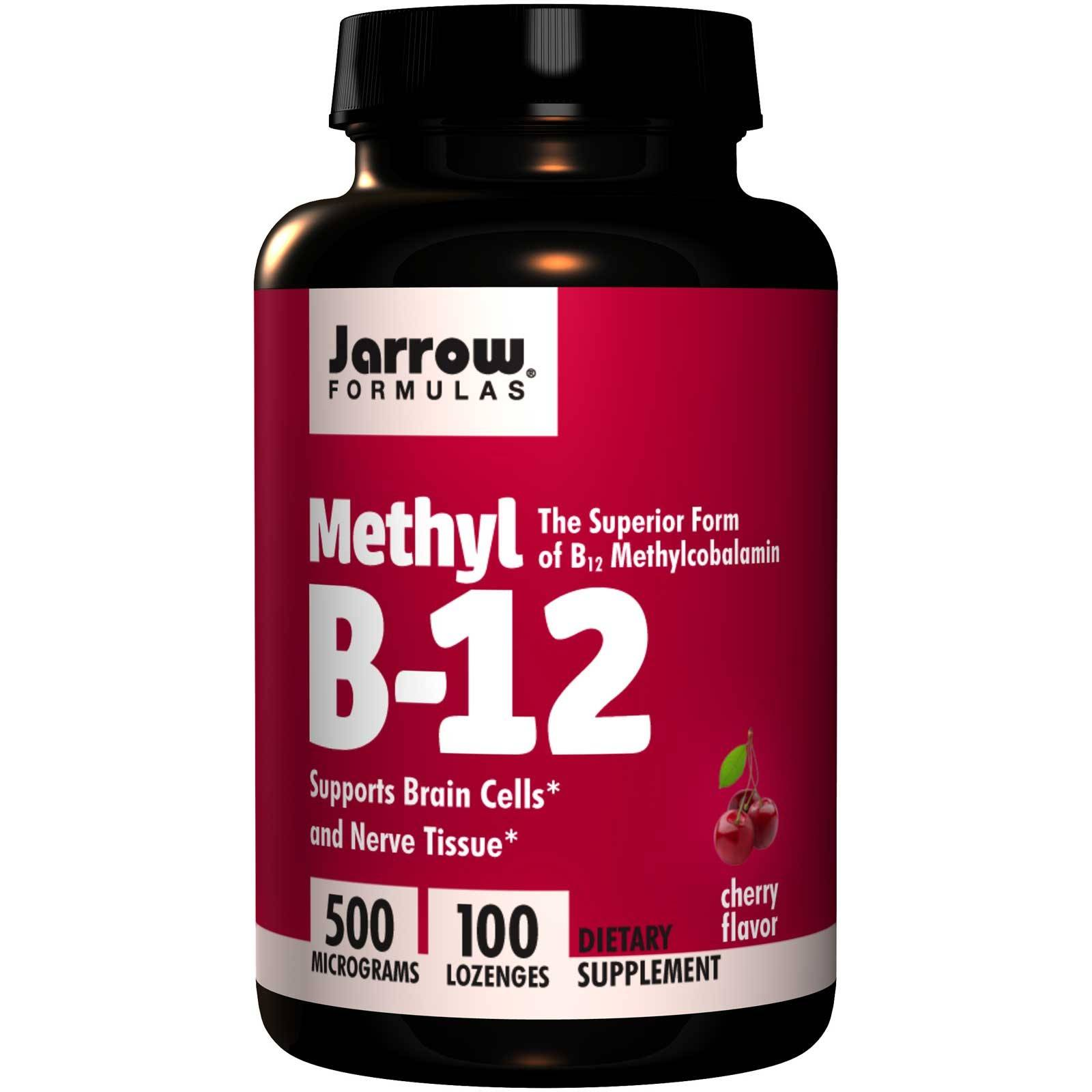 Jarrow Formulas Methyl B-12 Cherry Flavor 500 mcg (100 Lozenges) - Jarrow Formulas