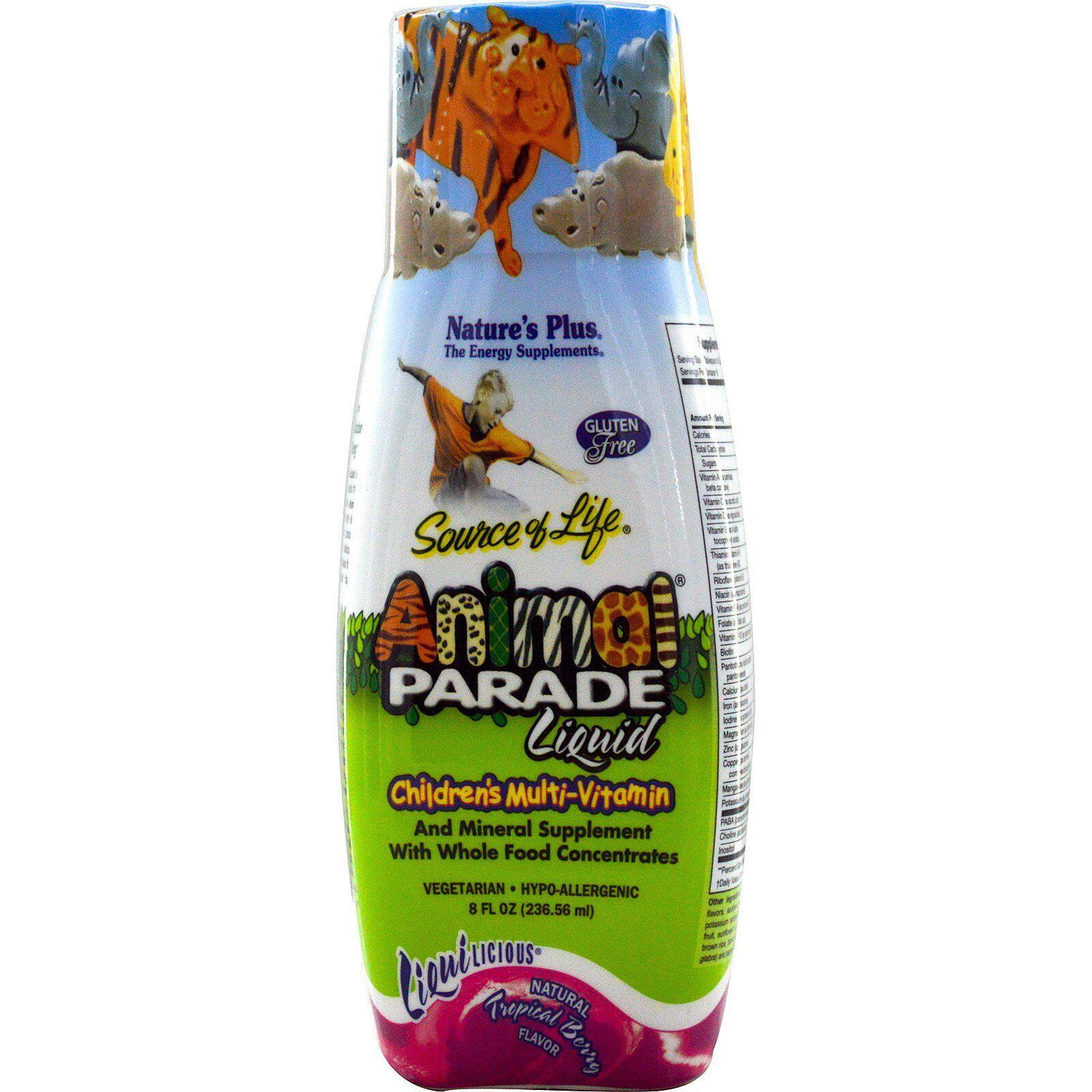 Nature's Plus Liquid, Children's Multi-Vitamin, Natural Tropical Berry Flavor (236 ml) - Nature's Plus