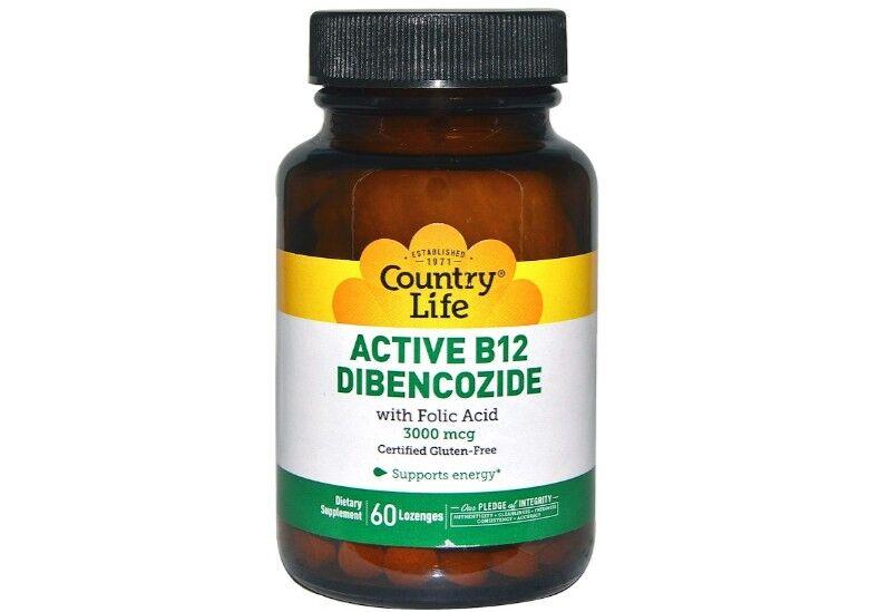 Country Life Active B12 Dibencozide 3000 mcg (60 Lozenges) - Country Life
