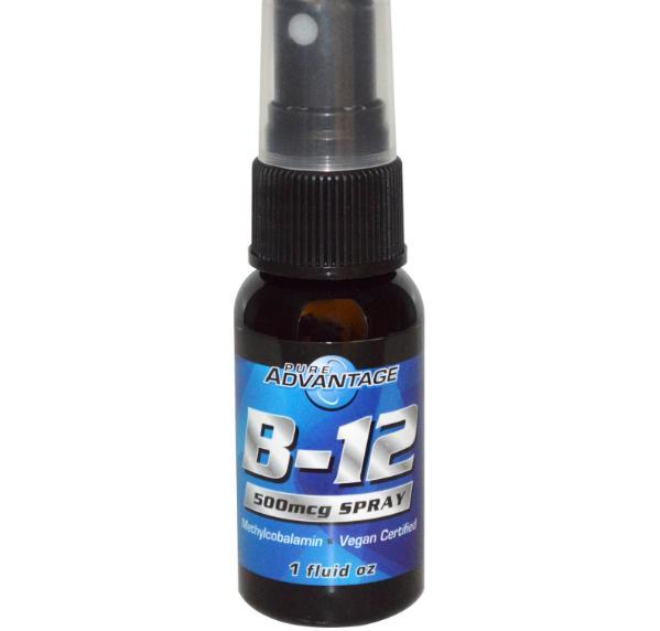 Pure Advantage, B-12, 500 mcg Spray, 1 fl oz