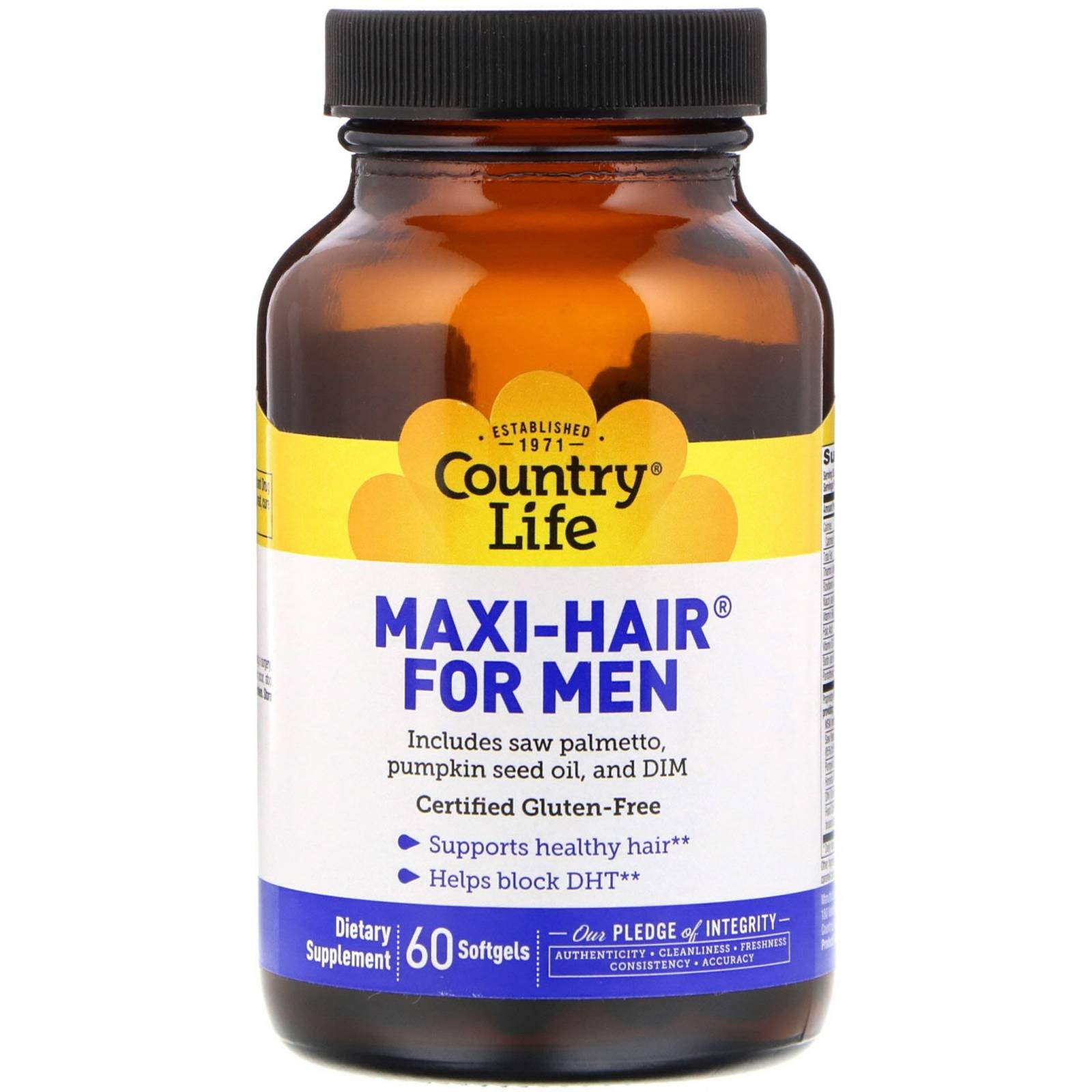 Country Life Maxi Hair for Men (60 softgels) - Country Life