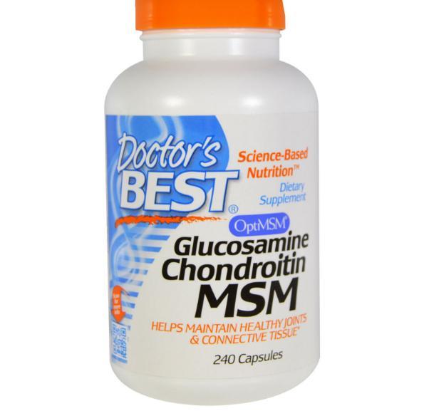 Doctors Best Doctor's Best, Glucosamine chondroïtine MSM, 240 Capsules