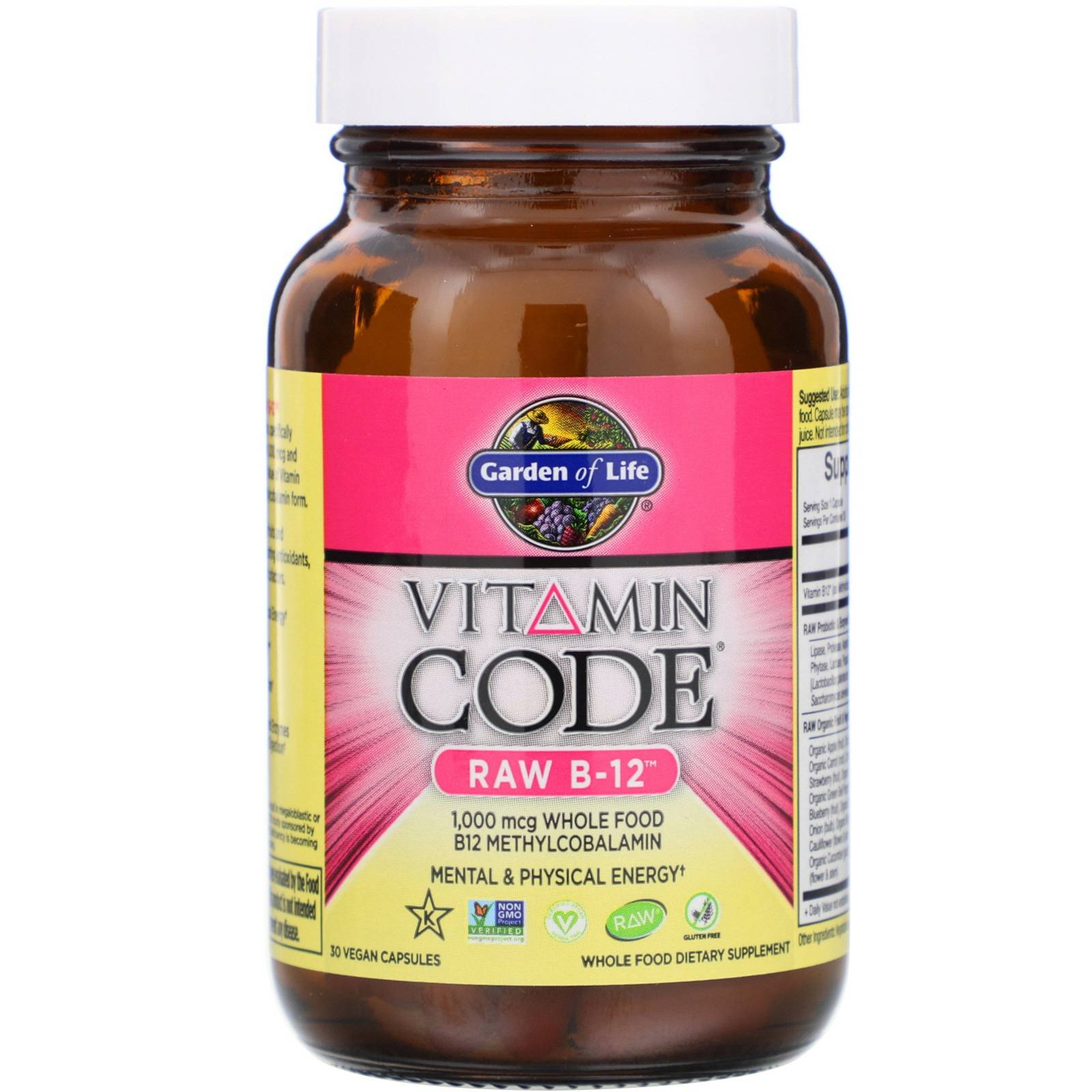 Garden of Life Vitamin Code - Raw B-12 (30 Vegetarian Capsules) - Garden of Life
