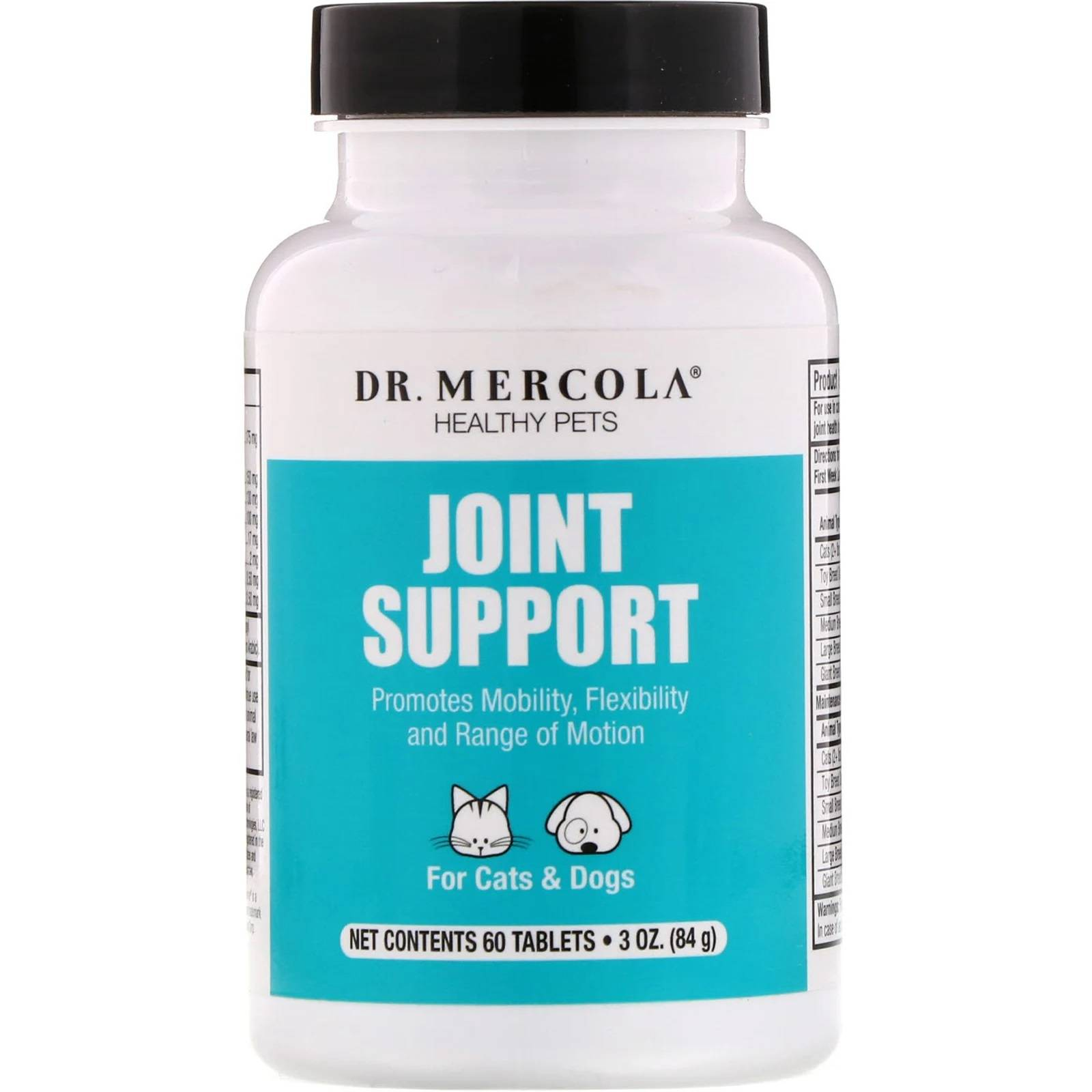 Dr. Mercola Healthy Pets Joint Support, with BiovaPlex for Pets (60 Tablets) - Dr. Mercola