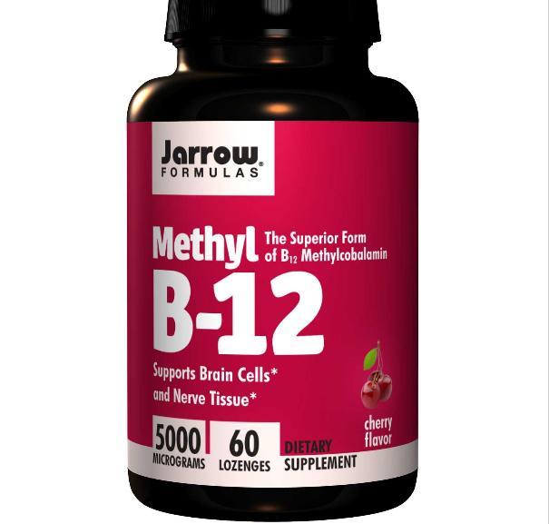 Jarrow Formulas, méthyl B12, saveur cerise, 5000 mcg, 60 pastilles