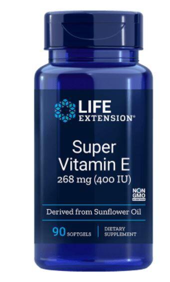 Life Extension Vitamine E Naturelle  400 Iu - 90 Gélules - Life Extension