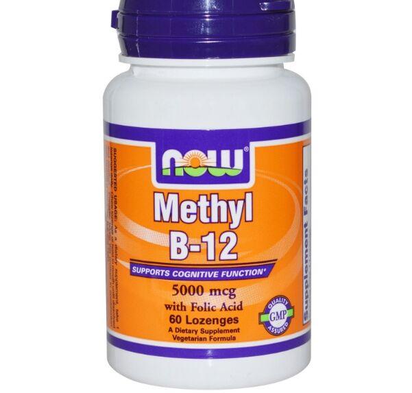 Now Foods, méthyl B12, 5000 mcg, 60 pastilles