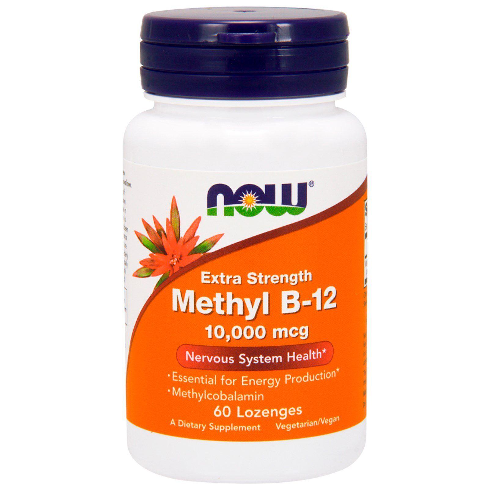 Now Foods Methyl B-12 Extra Strength 10.000 mcg (60 lozenges) - Now Foods