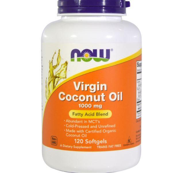 Now Foods, huile vierge de noix de coco, 1 000 mg, 120 gélules