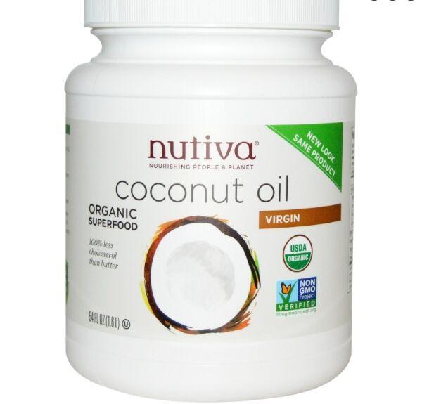 Nutiva, huile de coco vierge bio, 54 fl oz (1,6 L)