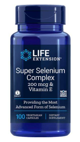 Life Extension Super sélénium complexe 200 mcg & Vitamine E (100 capsules végétariennes) - Life Extension