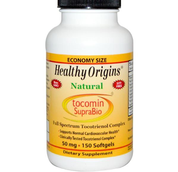 Healthy Origins, Tocomin SupraBio, huile de palme rouge concentré, 50 mg, 150 gélules