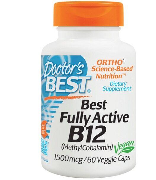 Doctors Best Best pleinement Active B12, 1500 mcg (60 Veggie Caps) - Doctor's Best