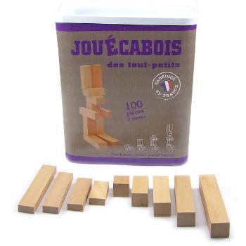 Mécabois Jeu d'éveil et de construction bois Jouécabois 1an +, 100 pièces