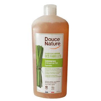 Douce Nature Shampoing et Gel douche bio familial au Lemongrass, 1l