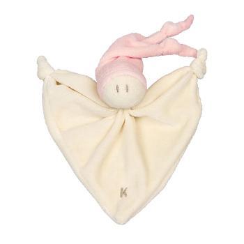 Keptin Doudou bébé en coton bio Rose Pastel, 17cm