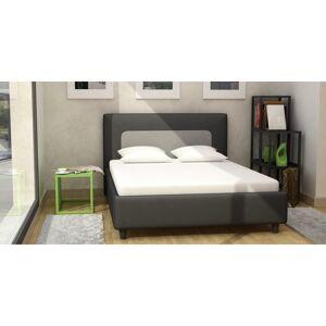 Linea deco Lit adulte bicolore noir gris 140x190cm TERI - Linea deco - Publicité
