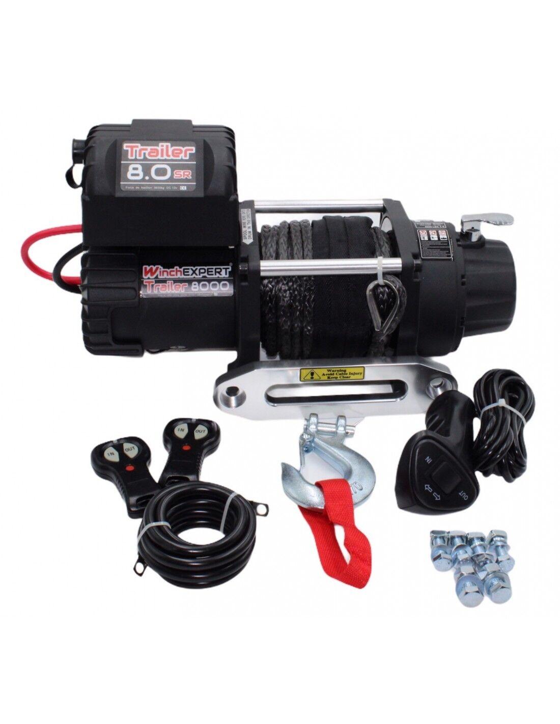 WinchExpert Treuil Electrique WinchExpert 3629 Kg 12v corde synthétique