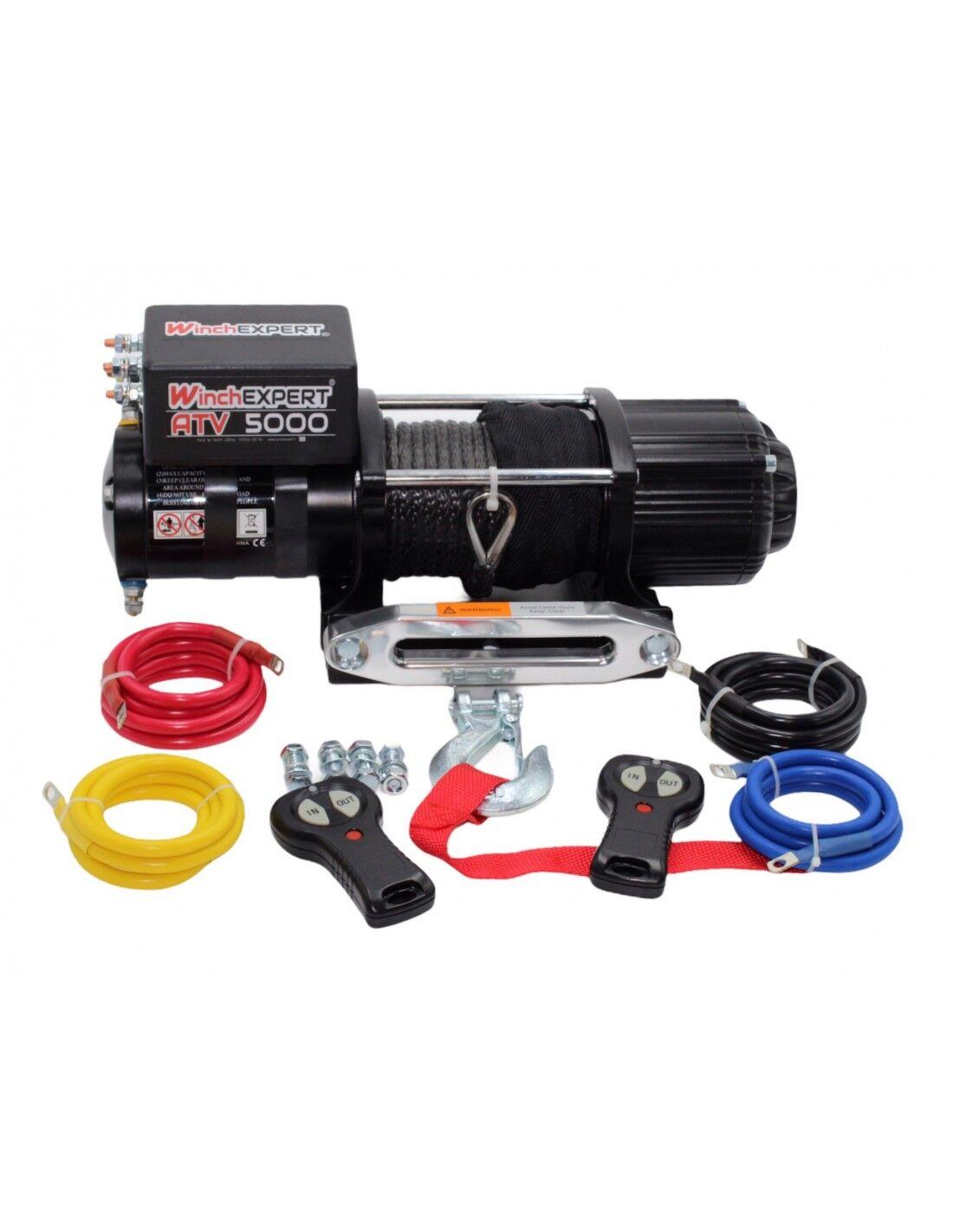 WinchExpert Treuil Electrique WinchExpert 2041 kg 12v corde et telecommande
