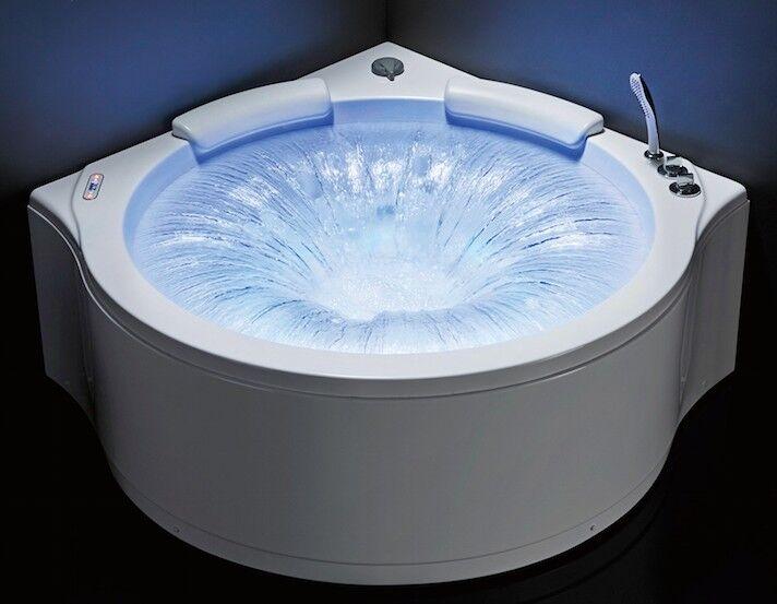 Uéva Design Baignoire balnéo d'angle NIAGARA - Blanc