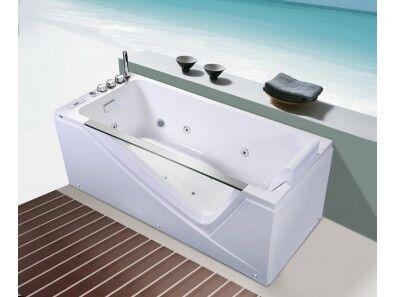Uéva Design Baignoire balnéo AARON 170 cm Droite - Blanc
