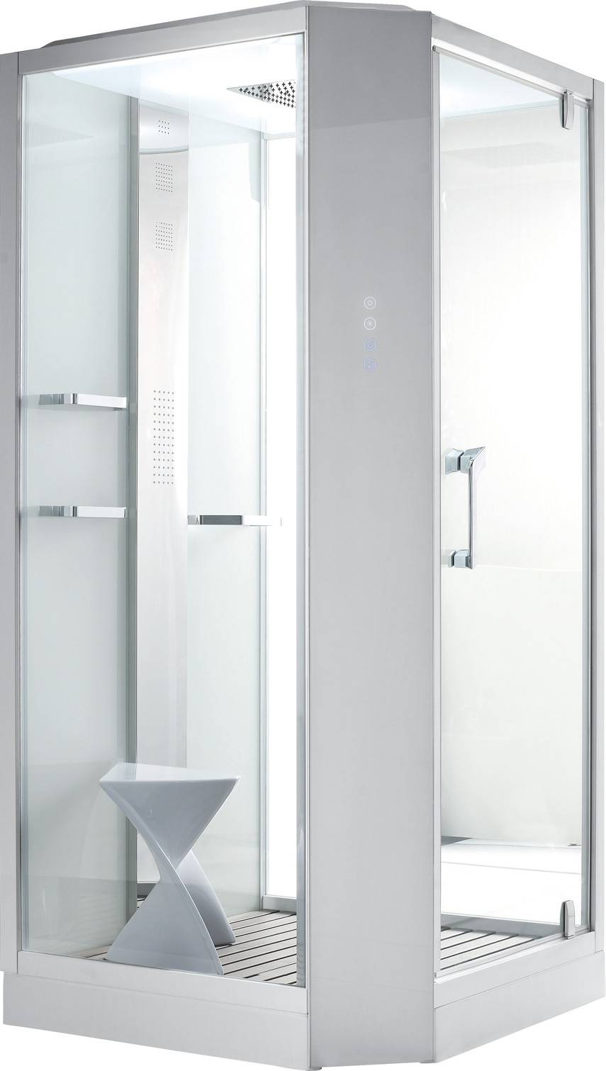 Uéva Design Douche hammam hydromassante Blanc Ouverture gauche - BlancNoir