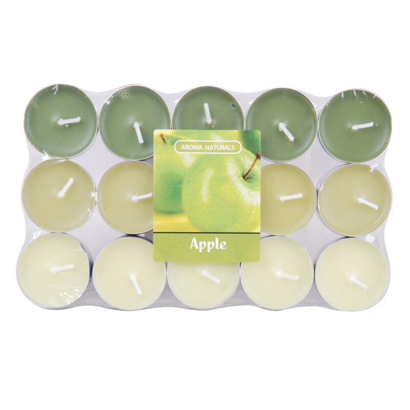 Spaas 30 bougies chauffe-plat parfum pomme verte
