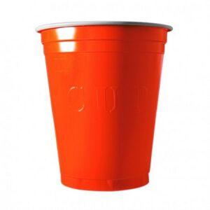Unique 20 Gobelets Americain Orange 53cl - Original Cup - Publicité