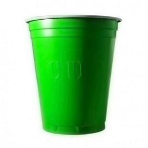 Unique 20 Gobelets Americain Vert Fluo 53cl - Original Cup - Publicité