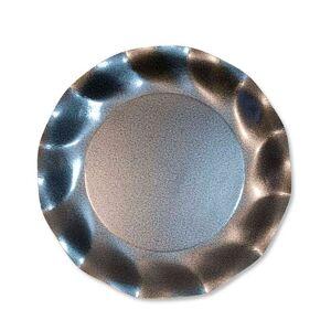 Unique 10 grandes assiettes rondes en carton gris perle PARTY LINE 27 cm - Publicité