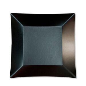 Unique 8 grandes assiettes carrées en carton noir opaque WASABI - Publicité
