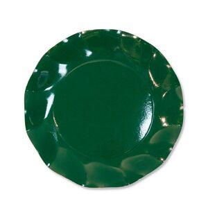 Unique 10 grandes assiettes rondes en carton vert PARTY LINE 27 cm - Publicité