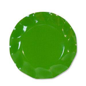 Unique 10 grandes assiettes rondes en carton vert pré PARTY LINE 27 cm - Publicité