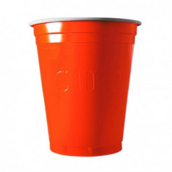Unique 20 Gobelets Americain Orange 53cl - Original Cup