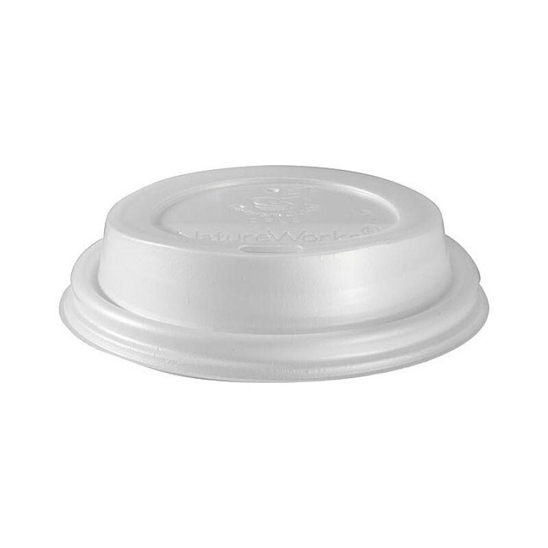 Duni 50 Couvercles en plastique blanc biodégradable pour gobelets triple paroi 24 cl