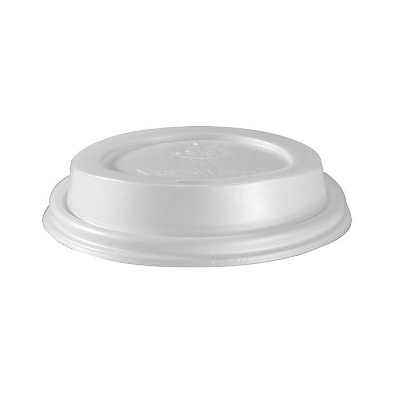Duni 50 Couvercles en bio-plastique blanc biodégradable pour gobelets triple paroi 35 cl