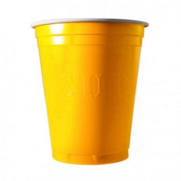 Unique 20 Gobelets Americain Jaune 53cl - Original Cup