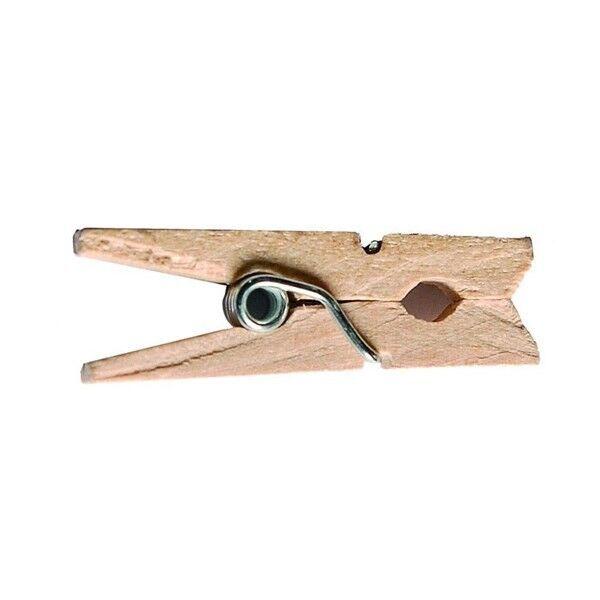 Unique 50 Mini pinces en bois - Naturel