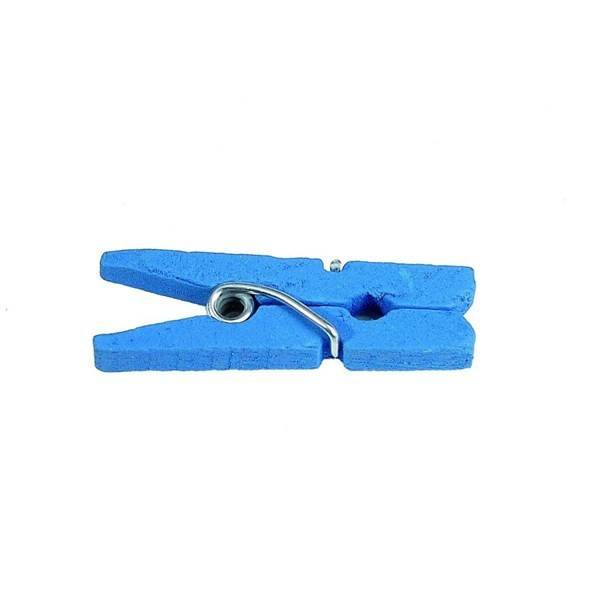 Unique 50 Mini pinces en bois - Turquoise