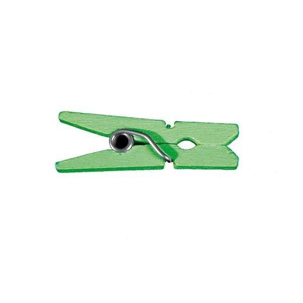 Unique 50 Mini pinces en bois - Vert