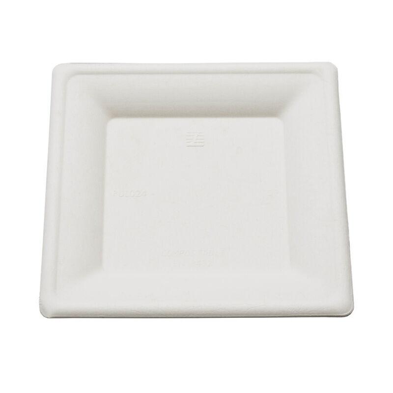 Be Pulp 40 assiettes carrées biodégradables 26 cm