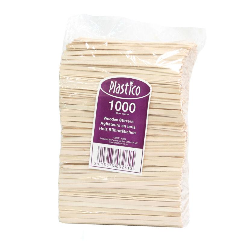 1000 agitateurs jetables en bois